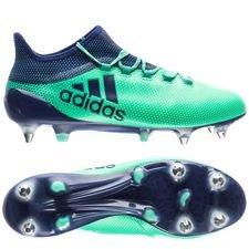 adidas x 17.1 sg deadly strike - grøn/blå/grøn - fodboldstøvler