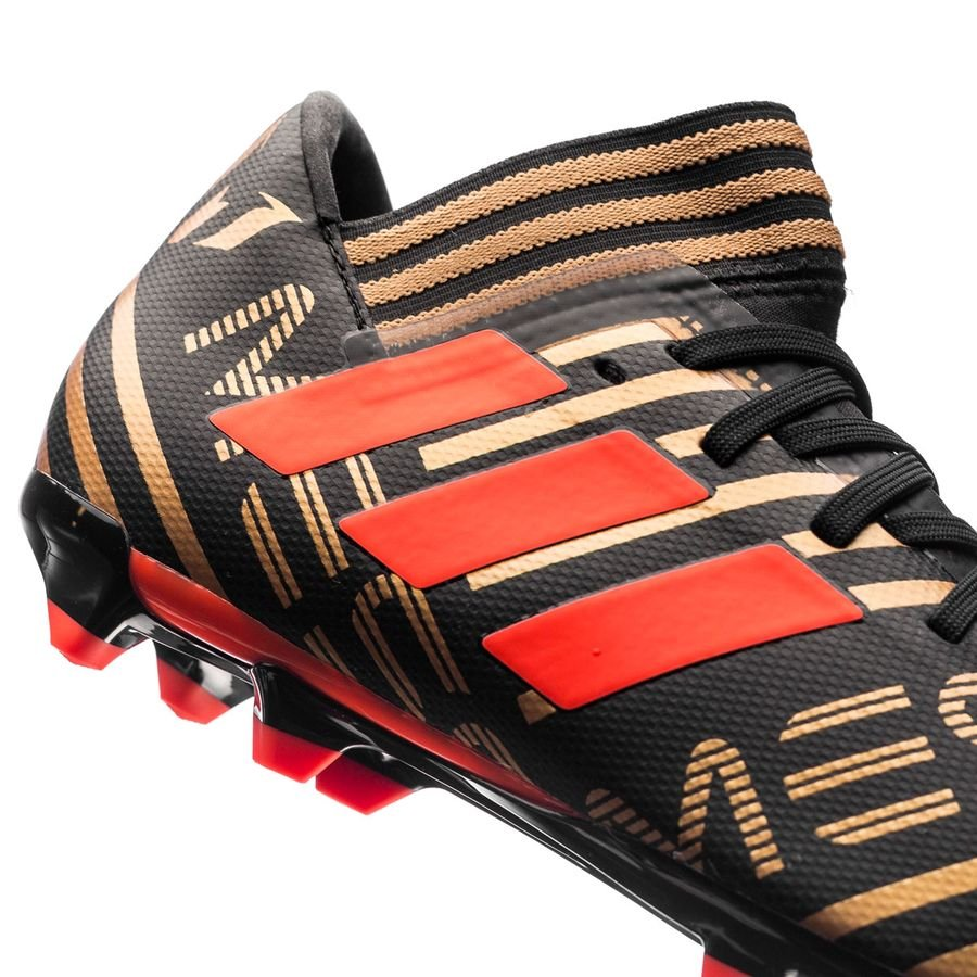 14427ad6f adidas Nemeziz Messi 17.3 FG AG Skystalker - Core Black Solar Red Tactile  Gold Metallic Kids