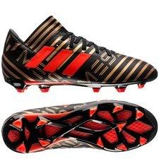 adidas Nemeziz Messi 17.3 FG/AG Skystalker - Zwart/Rood/Goud Kinderen