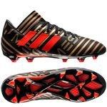 adidas nemeziz messi 17.3 fg/ag skystalker - sort/rød/guld børn - fodboldstøvler