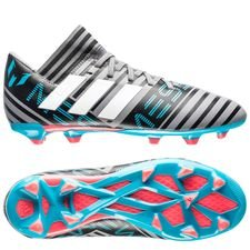 adidas nemeziz messi 17.3 fg/ag cold blooded - grey/footwear white/core black kids - football boots