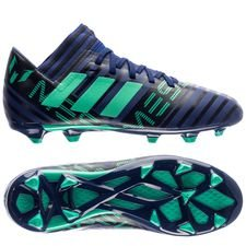 adidas nemeziz messi 17.3 fg/ag deadly strike - unity ink/hi-res green/core black kids - football boots