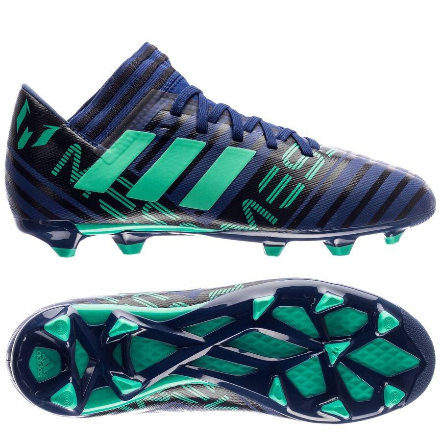 Adidas Messi De 17,3 Fg / Ag Grève Mortelle - Enfants Bleu / Vert / Noir