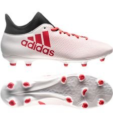 adidas X 17.3 FG/AG Cold Blooded - Wit/Rood/Zwart