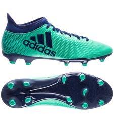 adidas x 17.3 fg/ag deadly strike - grøn/blå/grøn - fodboldstøvler