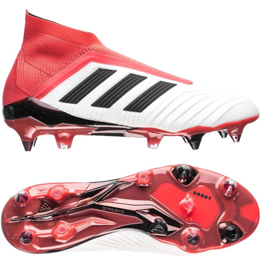 great fit f943b cd43b adidas predator 18+ sg cold blooded - footwear whitecore blackreal coral  ...