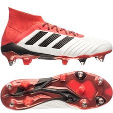adidas predator 18.1 sg cold blooded - hvid/sort/rød - fodboldstøvler