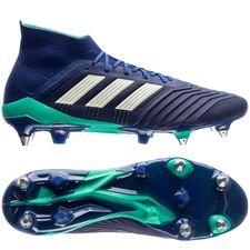 adidas predator 18.1 sg deadly strike - blå/grøn/grøn - fodboldstøvler