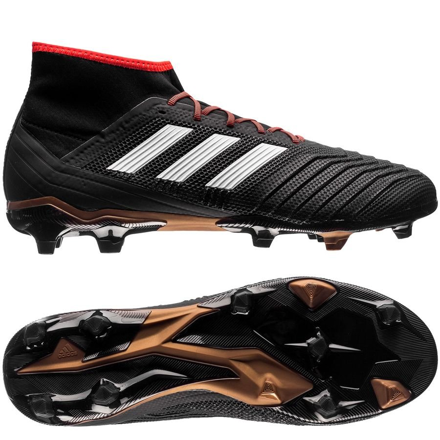 adidas predator 18.2 fg/ag skystalker - core black/footwear white/metallic  gold