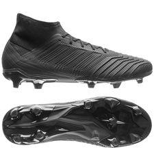 adidas predator 18.2 fg/ag nite crawler - sort/rød - fodboldstøvler