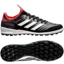 adidas copa tango 18.1 tf cold blooded - noir/blanc/corail - chaussures de football
