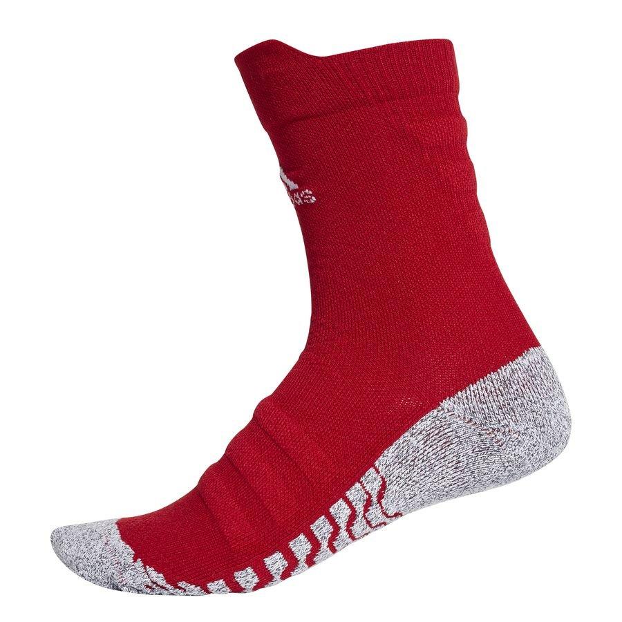 adidas Fodboldsokker Alphaskin Lightweight Cushion Crew - Rød/Hvid thumbnail