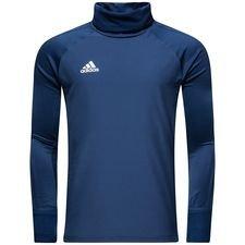 adidas træningstrøje warm condivo 18 - navy/hvid - træningstrøjer