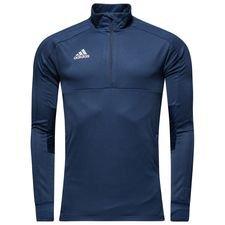 adidas træningstrøje 1/4 lynlås condivo 18 - navy/hvid - træningstrøjer