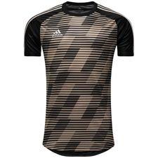 adidas trænings t-shirt tango graphic skystalker - guld/sort - træningstrøjer