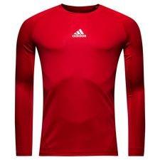 adidas baselayer alphaskin sport l/s - power red kids - baselayer