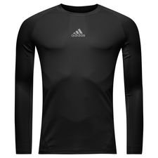 adidas baselayer alphaskin sport l/æ - sort - baselayer
