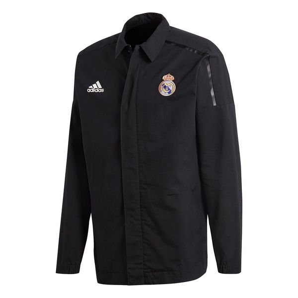 real madrid jakke z.n.e. woven - sort - jakker