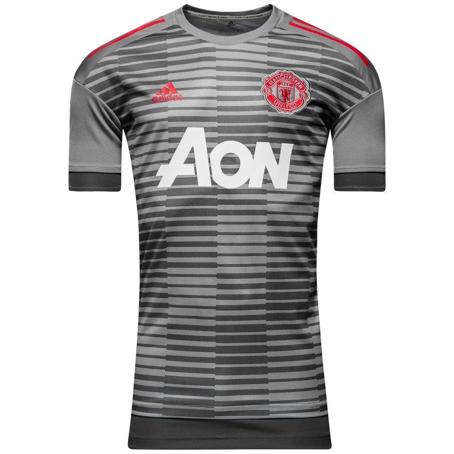 Manchester United T-shirt d'Entraînement Avant-Match Parley - Gris