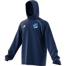 adidas rain jacket core 18 - dark blue/white - training jackets