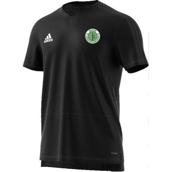 brede if - trænings t-shirt sort børn - træningstrøjer