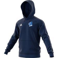 adidas hoodie core 18 - dark blue/white kids - hoodies