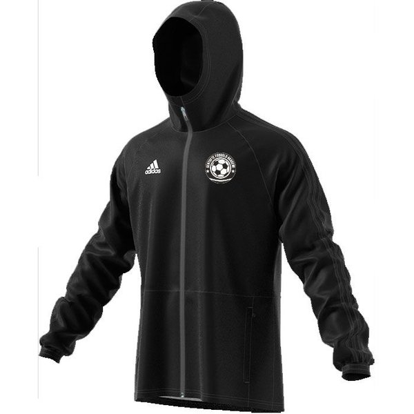 gentofte fodbold akademi - regnjakke sort - regnjakke