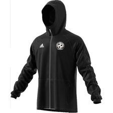 gentofte fodbold akademi - regnjakke sort børn - regnjakke
