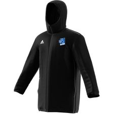 adidas stadium jacket core 18 - black/white kids - jackets