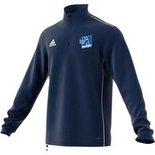 adidas training shirt 1/4 zip core 18 - dark blue/white - training tops