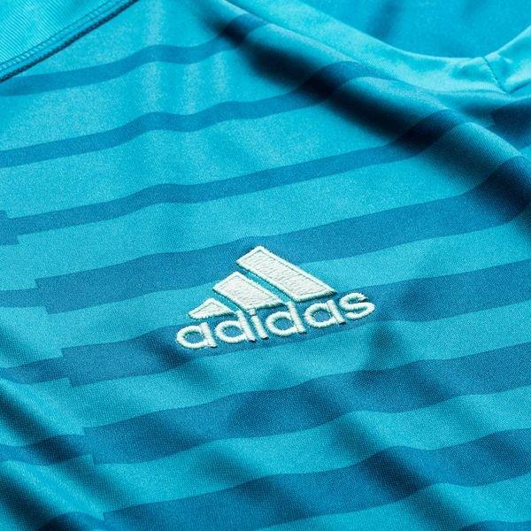 ... adidas goalkeeper shirt adipro 18 l s - bold aqua energy aqua kids ... 3167818ca