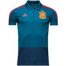 Image of   Spanien Polo - Blå/Rød