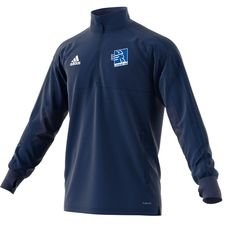adidas training shirt 1/4 zip condivo 18 - dark blue/white - training tops