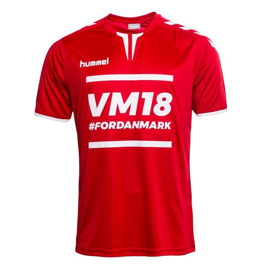 danemark t shirt coupe du monde 2018 rouge blanc www. Black Bedroom Furniture Sets. Home Design Ideas