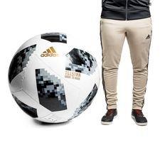 adidas Fodbold VM 2018 Telstar 18 Jumbo - Hvid/Sort/Sølv
