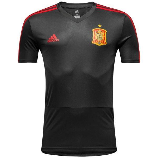 spanien training t-shirt - grau/rot - trainingsoberteile