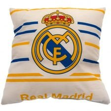 real madrid pillow logo - white/blue/yellow - merchandise