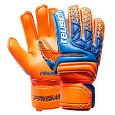 reusch goalkeeper gloves prisma prime s1 finger support - shocking orange/blue/shocking orange kids - goalkeeper gloves