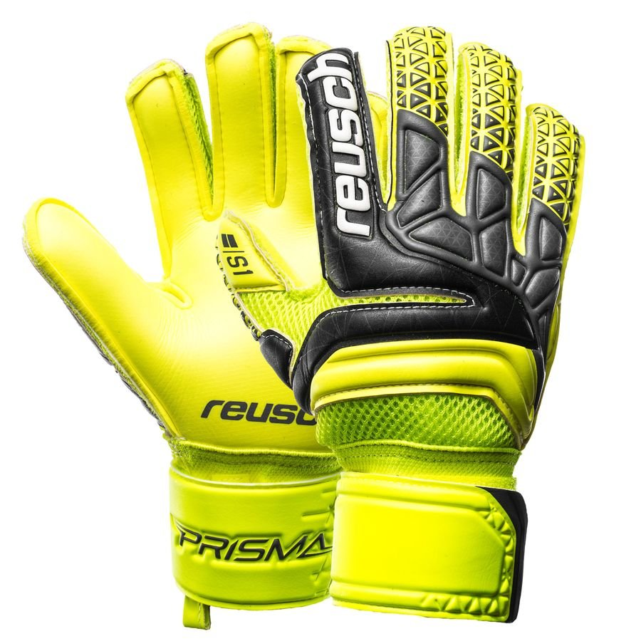 f3a10b31ac7 Reusch Goalkeeper Gloves Prisma Prime S1 Finger Support - Safety Yellow  Black Safety Yellow Kids