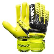reusch goalkeeper gloves prisma pro g3 negative cut - safety yellow/black/safety yellow - goalkeeper gloves
