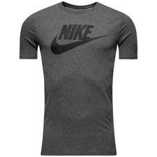 nike t-shirt nsw futura icon - grå/sort - t-shirts