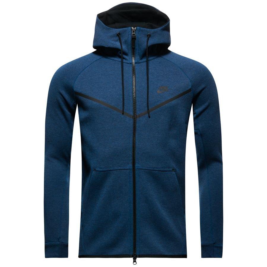 nike tech fleece windrunner fz - bleu foncé gris noir - vestes ... e922b96651d3