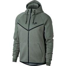 nike hættetrøje nsw tech fleece windrunner - grå/sort - hættetrøjer