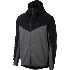 nike hoodie fz nsw tech fleece windrunner - black/charcoal heather - hoodies