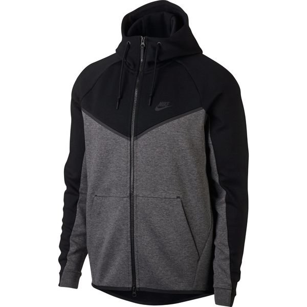 nike tech fleece windrunner hoodie grey and black