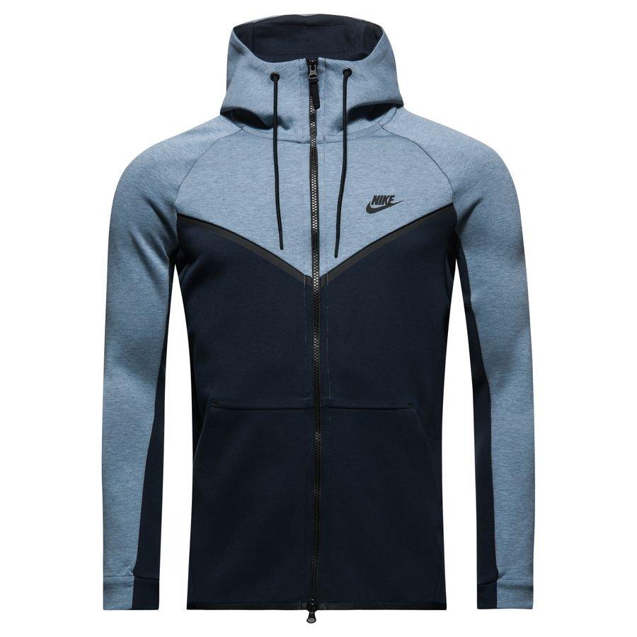 Nike Veste à Capuche FZ NSW Tech Fleece Windrunner - Bleu Gris Noir ... dea45e7810f2