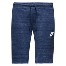 nike shorts nsw advance 15 knit - navy/heather/wit - trainingsshorts