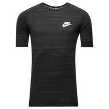 nike t-shirt nsw advance 15 knit - sort/grå/hvid - t-shirts