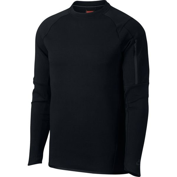 nike sweat shirt nsw tech fleece crew noir. Black Bedroom Furniture Sets. Home Design Ideas
