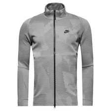 nike jakke nsw tech fleece gx 1.0 - grå/sort - jakker